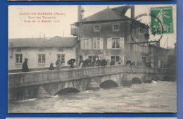 LIGNY-EN-BARROIS  Pont Des Tanneries    Crue Du 19 Janvier 1910   Animées - Ligny En Barrois