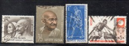 Y962 - INDIA 1969 , Yvert Serie N. 280/283 Usata  (2380A). Ghandi - Usati