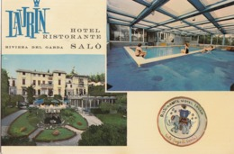 SALò-BRESCIA-LAGO DI GARDA-HOTEL =LAURIN=CARTOLINA VERA FOTOGRAFIA-VIAGGIATA IL 24-8-1971 - Brescia