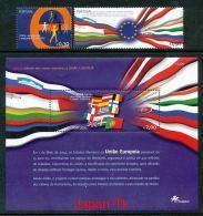 PORTUGAL Mi.Nr. 2816-2817, Block 195 EUROPA Mitläufer - Sechste Direktwahlen Zum Europäischen Parlament- 2004- MNH - 2004