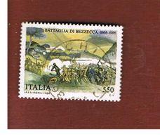 ITALIA REPUBBLICA  - SASS. 1766    1986  BATTAGLIA BEZZECCA   -      USATO - 6. 1946-.. República