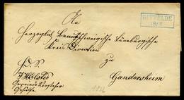 BRAUNSCHWEIG Ca. 1855, BRIEF MIT BLAUEM R2 GITTELDE, AK GANDERSHEIM + SEESEN - Brunswick