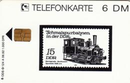 GERMANY - Schmalspurbahnen In Der DDR 1 (Briefmarke Mi:DDR 2792) (Stamp) , O 0124a-06/92 , Tirage 1.000 ,used - Duitsland