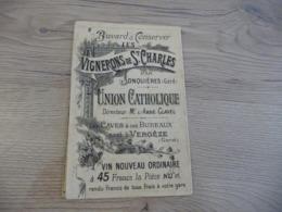 Pub Publicité Buvard Les Vignerons De Saint Charles 3 Volets Jonquières Gard Union Catholique - Agriculture