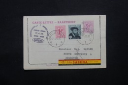 BELGIQUE - Entier Postal Par 1er Vol Bruxelles / Beyrouth En 1955 - L 43838 - Letter-Cards