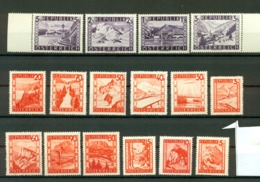 Osterreich - Austria = MNH - Serie Complete 16 Stamps 1945-47 - 1945-60 Ungebraucht