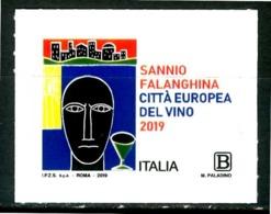 ITALIA / ITALY 2019** - Sannio Falanghina, Citta' Europea Del Vino - 1 Val. MNH, Autoadesivo. - Vini E Alcolici