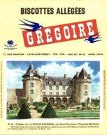 BUVARD  BISCOTTES GREGOIRE CHATEAU DE LA ROCHE-COURBON SAINT-PORCHAIRE CHARENTE-MARITIME N° 42 - Food