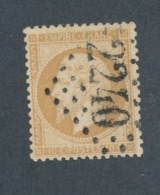 FRANCE - N°YT 21 OBLITERE GC 2240 MARSEILLE - COTE YT : 10€ - 1862 - 1862 Napoléon III