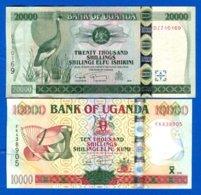 Ouganda  2  Billets  2008   Sup  Neuf - Uganda