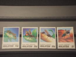 MALAYSIA - 1991 INSETTI 4 VALORI - NUOVI(++) - Malesia (1964-...)