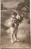 (1317) Jongetje Met De Handen Vol Bloemen - 1914 - Portretten