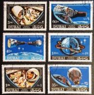 1966 DUBAÏ Mi 231, 232A, 233A, 234A, 235A, 236A, Gemini 6 And Gemini 7 - Dubai