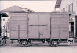 Chemin De Fer, Lausanne Echallens Bercher, Wagon K 63 à Echallens, Photo 1960 BVA LEB 78.9, 10x15 - VD Vaud