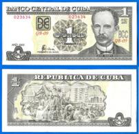 Cuba 1 Peso 2002 Que Prix + Port Jose Marti Caraibe Caribe Kuba Peso Paypal Bitcoin OK! - Cuba