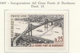 PIA  - FRANCIA  - 1967 : Inaugurazione Del Gran Ponte Di Bordeaux - (Yv  1524) - Ponti