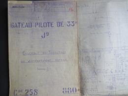 Ateliers Et Chantiers De St Nazaire - Penhoët - Plan  Bateau Pilote - 33M - J9 -  Année 1945 - - Machines