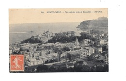CPA Monaco  Monte Carlo Vue Générale Prise De Beausoleil - Monte-Carlo