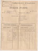 1929 / PHARMACIE BLANC REMOULINS GARD ANALYSE D'URINE   B1051 - Frankreich