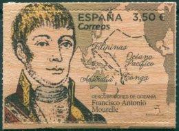 Espagne - 2019 -  Descubridores De Oceania - Francisco Antonio Mourella - Timbre En Bois - ** - 1931-Hoy: 2ª República - ... Juan Carlos I