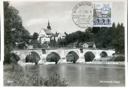 47989 Switzerland, Maximum 1986  Bischofszell,  Bridge, Pont, Brucke, Architecture - Cartas Máxima