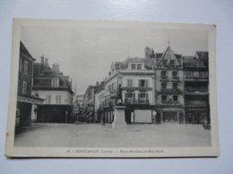 CPA 45 LOIRET - MONTARGIS : Place Mirabeau Et Rue Dorée - Montargis