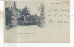 Monte Carlo, Casino, Vue Des Jardins - Monte-Carlo
