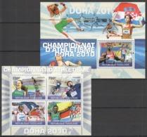 TG1228 2010 TOGO TOGOLAISE SPORT ATHLETICS CHAMPIONS DOHA 2010 1KB+1BL MNH - Athletics