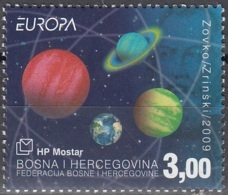 Bosna I Hercegovina Mostar 2009 Yvert 229 Neuf ** Cote (2015) 4.50 Euro Europa CEPT L'astronomie - Bosnie-Herzegovine