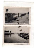 LOT De 2 PHOTOS - 93 - NEUILLY SUR MARNE - MILITARIA - Le Pont Bombardé Le 14 Juin 1940 - - Krieg, Militär