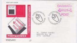 Denmark FDC 1990 A T M  Mi. 1 (G104-20) - ATM - Frama (labels)