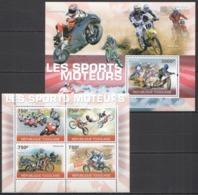 TG1247 2010 TOGO SPORT MOTOSPORT MOTORCYCLES MOTOCROSS MOTO GP 1KB+1BL MNH - Motorbikes