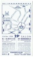 Ticket D'Entrée. Salon De L'Alimentation 1958.  Carte D'Acheteur. - Tickets D'entrée