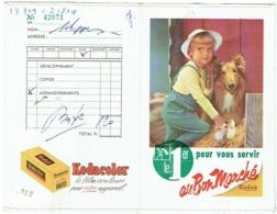 Foto/Photo. Pochette Kodak. Au Bon Marché. Enfant Et Chien. - Supplies And Equipment