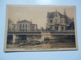 CPA 45 LOIRET - MONTARGIS : La Salle Des Fêtes Et Le Pont De Tivoli - Montargis
