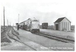 Zuidland Tram Naar/to Rotterdam Ramway Strassenbahn Trolley Station Bahnhof Tramstation Dieseltram 1950's - Niederlande