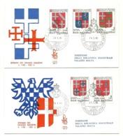 1980 - Sovrano Militare Ordine Di Malta 175/79 Stemmi      FDC     13/45 - Buste
