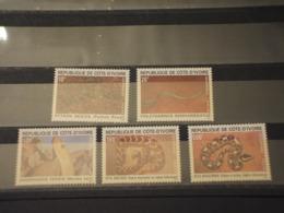 COTE D'IVOIRE - 1995 SERPENTI 5 VALORI - NUOVI(++) - Costa D'Avorio (1960-...)
