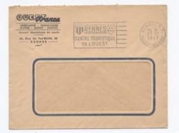 RENNES 1957 OUEST FRANCE     - Y1 - Marcofilie (Brieven)