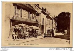 LUZANCY - Rue Du Général Leclerc (belle Animation, Café, Auto) - France