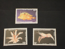 NOUVELLE CALEDONIE - 1989 FAUNA 3 VALORI - NUOVI(++) - New Caledonia
