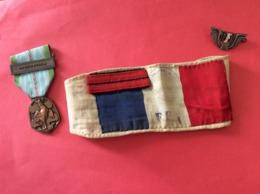 Ensemble D'objets Militaires (Brassard FFI-Médaille Libération-Insignes FFI A.Bertrand N° 169032) - Barche