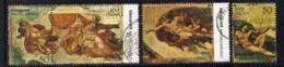 CI1980- INDIA 1975 , Yvert Serie N. 434/437 Usata   (2380A).  Michelangelo - India