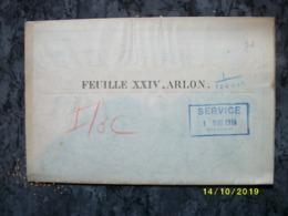 Carte Topographique De Arlon (Habay Hampre Nives Hollange Bastogne) - Cartes Topographiques