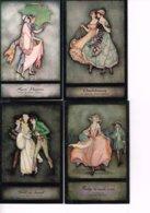 ILLUSTRATRICE JENNIE HARBOUR : 4 Cartes Anglaises D'après Ses Peintures. - Illustrateurs & Photographes