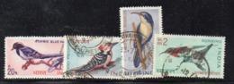 CI1976- INDIA 1968 , Yvert Serie N. 263/266 Usata   (2380A). Uccelli - Usati