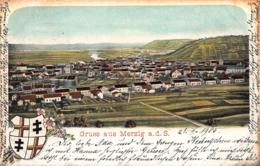 GRUSS Aus MERZIG A D SAARLAND-PANORAMA-HERALDRY LOGO 1906 POSTCARD 41992 - Kreis Merzig-Wadern