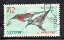 CI1966- INDIA 1968 , Yvert 2 Rupie N. 266 Usata   (2380A). Uccelli - Usati