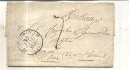 Lettre De 1838 De Montron Vers Paris - Poststempel (Briefe)