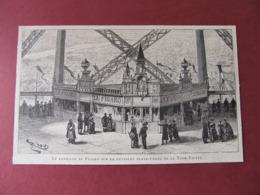 TOUR EIFFEL - EXPOSITION DE 1889 - LE PAVILLON DU FIGARO SUR LA 2me PLATE-FORME DE LA TOUR-EIFFEL 1889 - Documentos Antiguos